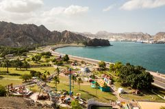 Coastal amusement park. In Muscat, Oman Royalty Free Stock Images