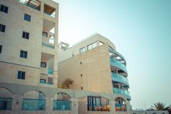 Coastal apartments in Israel. Ashkelon Royalty Free Stock Images