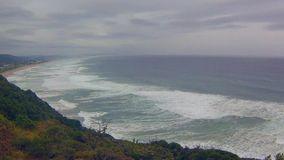Coastal area of ��the Wilderness National Park, South Africa stock footage