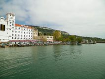 Coastal area in city of Balchik, Dobrich province, Bulgaria. royalty free stock photography