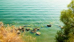 Coastal area of Ohrid Lake, Macedonia. royalty free stock image