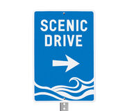 Coastal Scenic Drive Surf Beach Sign Stock Images