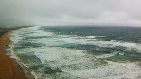 Stormy sea stock footage