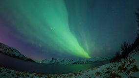 Coastal Aurora borealis over Norway