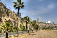 Coastal avenue in Lima Royalty Free Stock Images