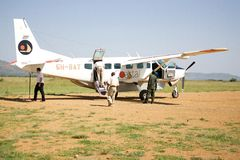 """Coastal Aviation. Ltd. has been operating out of Dar es Salaam, Tanzania since 1988. Coastal developed the """"Scheduled Flying Safari"""", thus offering the Stock Photo"""