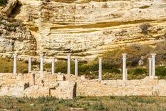 Coastal Basilica of Kourion, Cyprus Royalty Free Stock Image