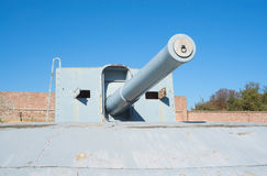 Coastal battery cannon Stock Image