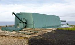 Coastal battery cannon in Monte de San Pedro, La Coruna Stock Images