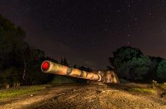 Coastal battery cannon in Tarifa, Spain Royalty Free Stock Photo