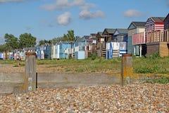 Coastal beach huts royalty free stock images
