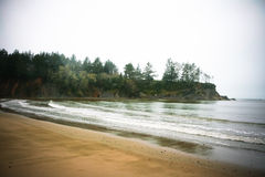 Coastal Beach on a Rainy Day Royalty Free Stock Image