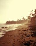 Coastal Beach. Vintage tinted coastal beach line image Royalty Free Stock Images