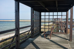 Coastal Boardwalk Pergola in Hel Royalty Free Stock Images
