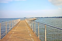 Coastal boardwalk at Singapore Stock Photo