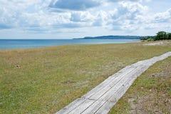 Coastal boardwalk Royalty Free Stock Photography