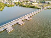 Coastal bridge in Chonburi Royalty Free Stock Photo