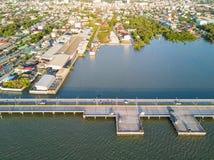 Coastal bridge in Chonburi Royalty Free Stock Photos