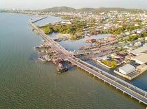 Coastal bridge in Chonburi Stock Photography