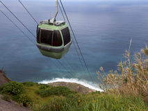Coastal cablecar Madeira, Portugal Stock Images
