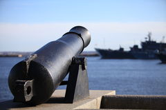 Coastal cannon Stock Photo