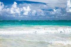 Coastal Caribbean landscape. Bavaro Royalty Free Stock Photography