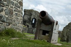 Coastal castle cannon Royalty Free Stock Images