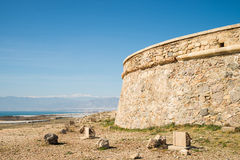 Coastal castle Royalty Free Stock Images