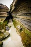 Coastal cave San Diego. Coastal cave between the rocks along the San Diego, California coastline stock images