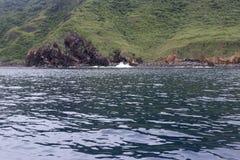 Coastal caves of turtle island, yilan county, taiwan Stock Image