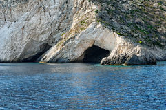 Coastal caves in Zakynthos Royalty Free Stock Photography