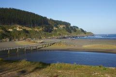 Coastal Chile. Remote beach in the small coastal village of Cobquecura in Maule, Chile stock photo