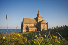 Coastal church in Scotland on a sunny afternoon Stock Photo