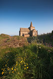 Coastal church in Scotland on a sunny afternoon Royalty Free Stock Images