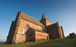 Coastal church in Scotland on a sunny afternoon Royalty Free Stock Photography