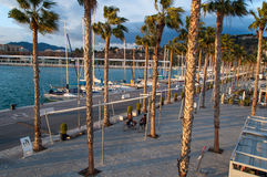 Coastal city of Malaga, Costa del Sol, Andalucia, Spain Royalty Free Stock Image