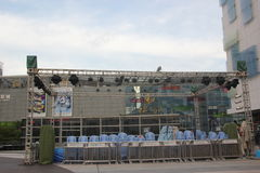 The coastal city mall outdoor stage in SHENZHEN. There is Set up an outdoor stage outside coastal city mall Stock Image