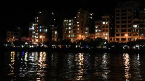 Coastal city at night. The coastal city at night stock video footage