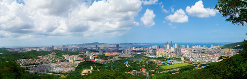 Coastal city of panoramic Royalty Free Stock Photo