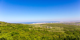 Coastal city panoramic view Royalty Free Stock Images