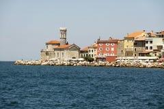 Coastal city Prian in Slovenia Royalty Free Stock Images