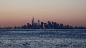 Coastal City Skyline And Ocean Royalty Free Stock Photos