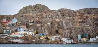 Coastal city, St. John's, Newfoundland Royalty Free Stock Image