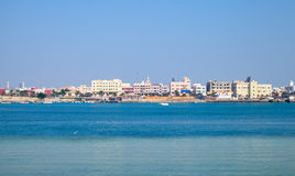 Coastal cityscape of Muharraq, Bahrain Stock Photography