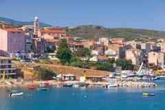Coastal cityscape of Propriano, Corsica, France Royalty Free Stock Photo