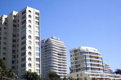 Coastal Cityscape of Residential Apartment Complexes Royalty Free Stock Photography