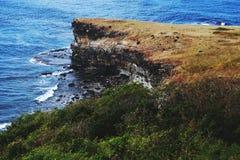 Coastal Cliff on Capones Island Royalty Free Stock Photos