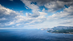 Coastal cliff of Cassis Provence France Stock Images