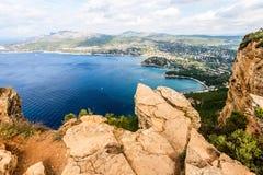 Coastal cliff of Cassis Provence France Stock Photos