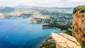 Coastal cliff of Cassis Provence France Stock Photography